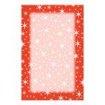 Teste padrão de estrela branco e vermelho papel personalizado