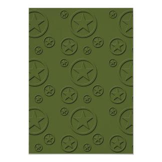 Teste padrão de estrela do exército convites personalizados