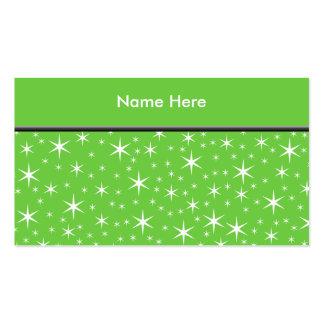 Teste padrão de estrela verde e branco cartão de visita