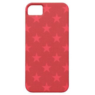 Teste padrão de estrelas vermelho capa para iPhone 5