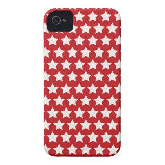 Teste padrão de estrelas vermelho e branco capa para iPhone