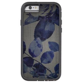 teste padrão de flor azul do caso do iPhone 7 no Capa Tough Xtreme Para iPhone 6