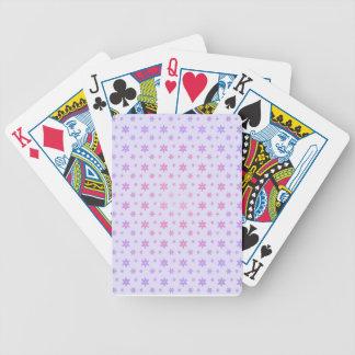 Teste padrão de flor baralhos para pôquer