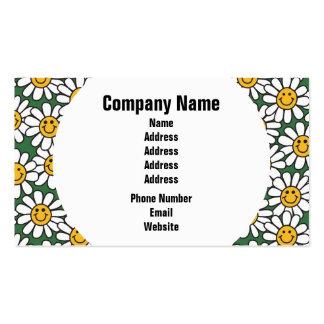 Teste padrão de flor bonito da margarida cartão de visita