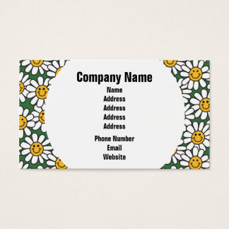 Teste padrão de flor bonito da margarida cartão de visitas