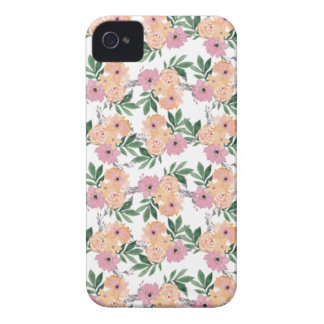 Teste padrão de flor do pink&peach da aguarela capinhas iPhone 4