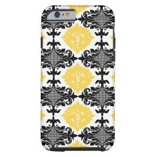 Teste padrão de flor feminino floral do damasco capa tough para iPhone 6