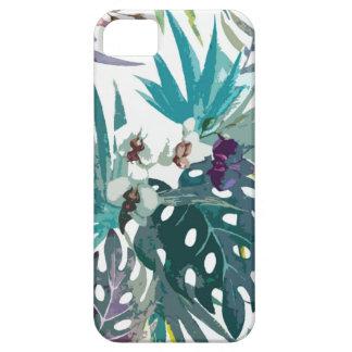 Teste padrão de flor tropical capa para iPhone 5