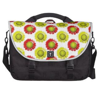 Teste padrão de flor vermelho e amarelo do pastas para laptops
