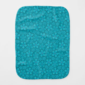 Teste padrão de flores azul paninho de boca