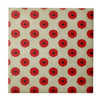 Teste padrão de flores vermelho rústico