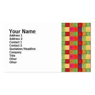 Teste padrão de grade colorido da cor modelo cartões de visitas