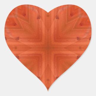 Teste padrão de madeira alaranjado da textura adesivos em forma de corações
