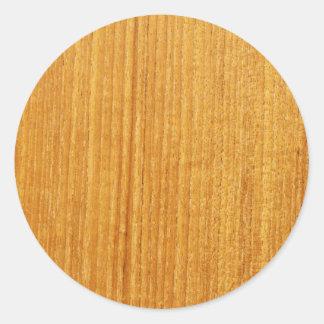 Teste padrão de madeira da grão adesivo em formato redondo