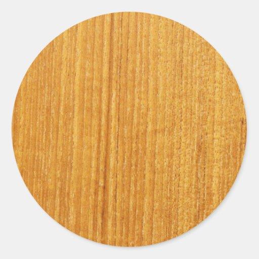 Teste padrão de madeira da grão adesivos redondos