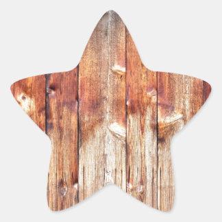 Teste padrão de madeira da textura do celeiro adesivos estrelas