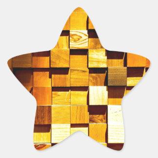 Teste padrão de madeira dos blocos adesito estrela