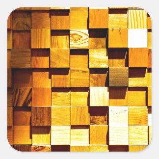 Teste padrão de madeira dos blocos adesivo quadrado