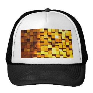 Teste padrão de madeira dos blocos boné