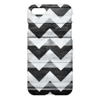 Teste padrão de madeira moderno branco preto de capa iPhone 7