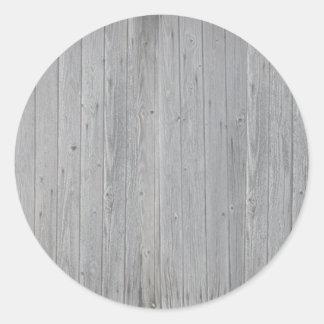 Teste padrão de madeira velho da textura adesivo redondo