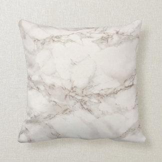 Teste padrão de mármore branco macio almofada
