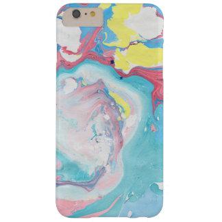 Teste padrão de mármore colorido moderno GR3 Capa Barely There Para iPhone 6 Plus
