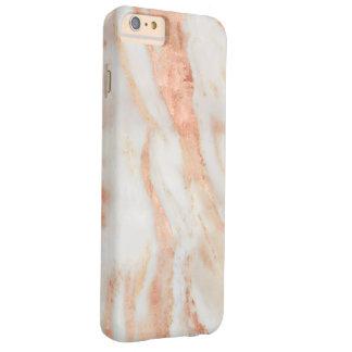 Teste padrão de mármore feminino de cora do rosa capas iPhone 6 plus barely there