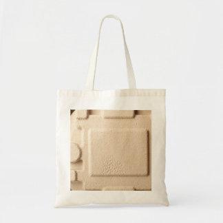 Teste padrão de molde do cartão sacola tote budget