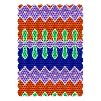 Teste padrão de mosaico colorido convite personalizados