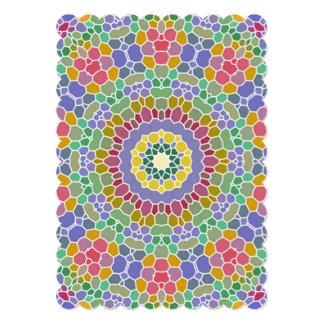 Teste padrão de mosaico colorido do círculo convite