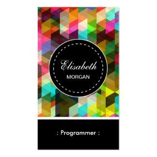 Teste padrão de mosaico colorido do programador cartão de visita