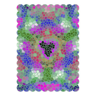 Teste padrão de mosaico colorido na moda convite personalizados