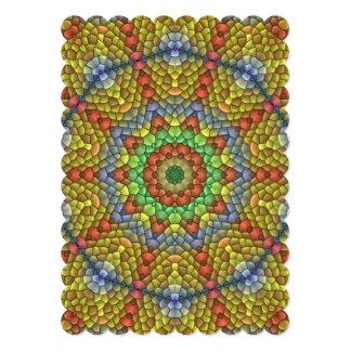 Teste padrão de mosaico decorativo convites personalizados