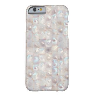 Teste padrão de mosaico elegante da madrepérola capa barely there para iPhone 6