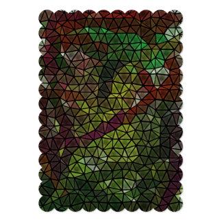 Teste padrão de mosaico estranho convite