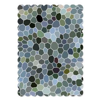 Teste padrão de mosaico moderno convite personalizados