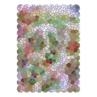 Teste padrão de mosaico na moda convite personalizado