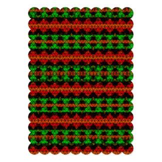 Teste padrão de mosaico tribal convites personalizados