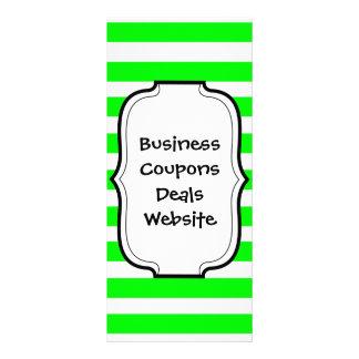 Teste padrão de néon brilhante do verde limão e o  panfletos informativos personalizados