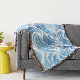 Teste padrão de onda azul chique coberta