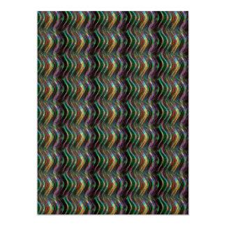 Teste padrão de onda holográfico brilhante escuro convite 16.51 x 22.22cm