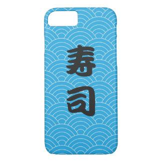 Teste padrão de onda japonês da cerceta com sushi capa iPhone 7