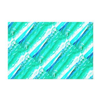 teste padrão de ondas azul esverdeado de Maui Impressão Em Tela