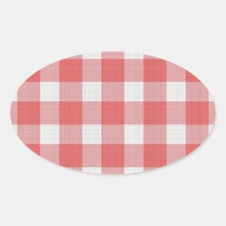 Teste padrão de pano do piquenique adesivo oval