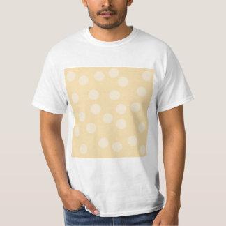 Teste padrão de ponto bege t-shirts