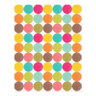 Teste padrão de ponto colorido papel de carta personalizados