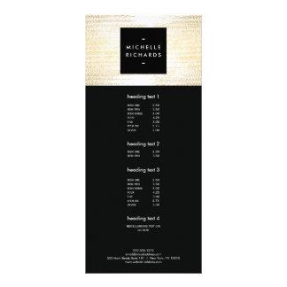 Teste padrão de pontos dos confetes do ouro do 10.16 x 22.86cm panfleto