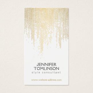 Teste padrão de pontos elegante dos confetes do cartão de visitas