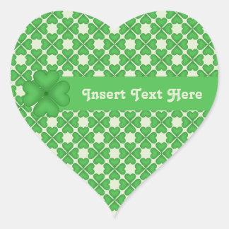 Teste padrão de quatro corações do trevo da folha adesivo coração